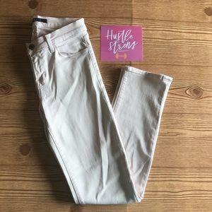 J Brand Cropped Rail Skinny Jeans in Blush